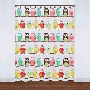 Saturday Knight, Ltd. Owl PEVA Shower Curtain