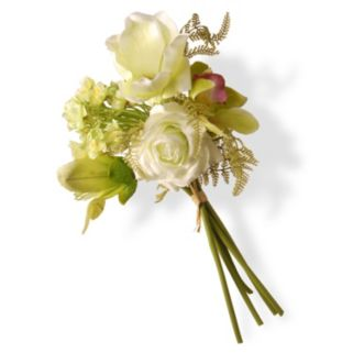 "National Tree Company 13"" Artificial Magnolia Flower Bouquet"
