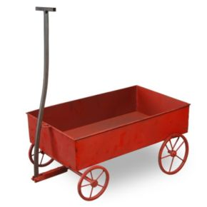 "National Tree Company 21"" Red Wagon Lawn Ornament"
