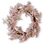 National Tree Company 16' Artificial Pink Berry Wreath