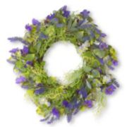 "National Tree Company 24"" Artificial Purple Flower Wreath"