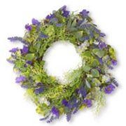National Tree Company 24' Artificial Purple Flower Wreath