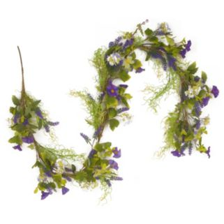 National Tree Company 6 Ft. Artificial Purple Flower Garland