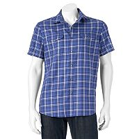 Men's Apt. 9® Modern-Fit Plaid Two-Pocket Button-Down Shirt
