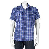 Men's Apt. 9® Modern-Fit Plaid Two-Pocket Button-Down Shirt