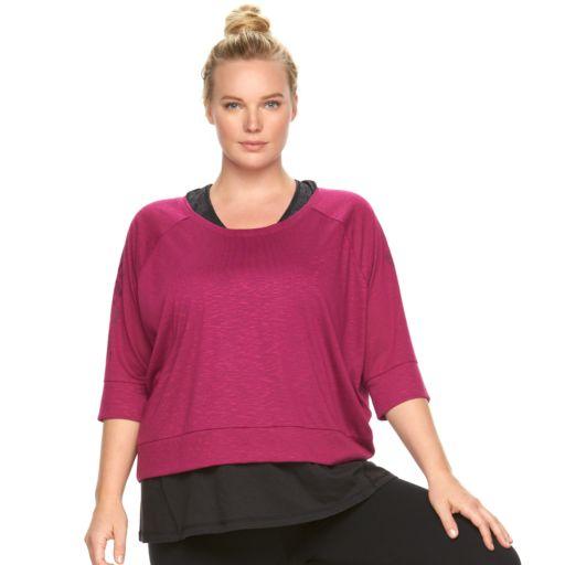 Plus Size Gaiam Reveal Yoga Crop Top