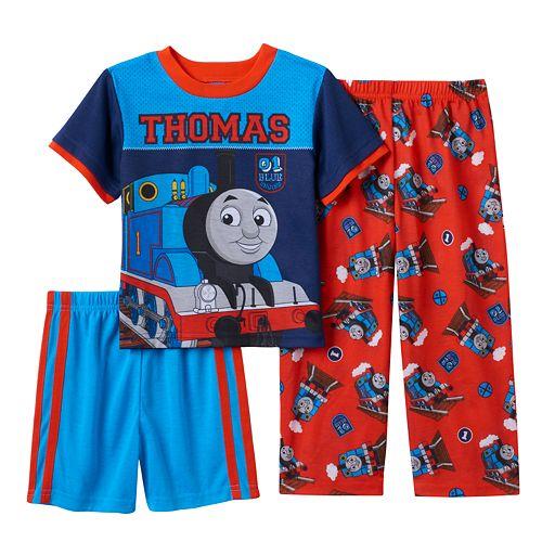 Blue /& Khaki Thomas The Train Toddler Boys/' 3pc Polo Red T-Shirt /& Shorts Set