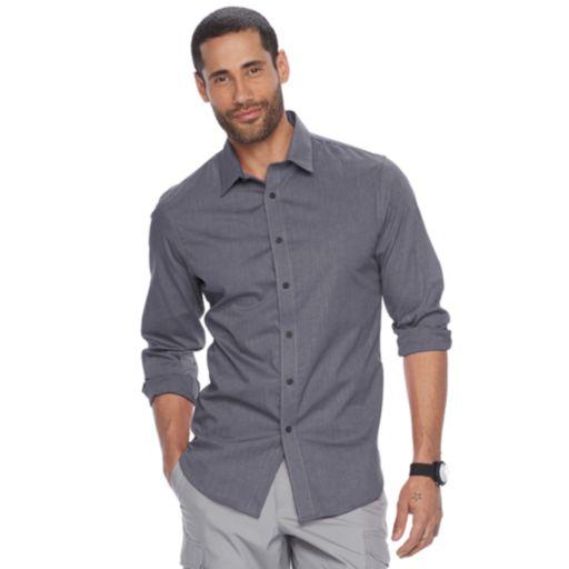 Men's Apt. 9® Slim-Fit Stretch End-On-End Button-Down Shirt