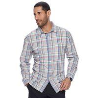 Men's Apt. 9® Modern-Fit Plaid Roll-Tab Button-Down Shirt