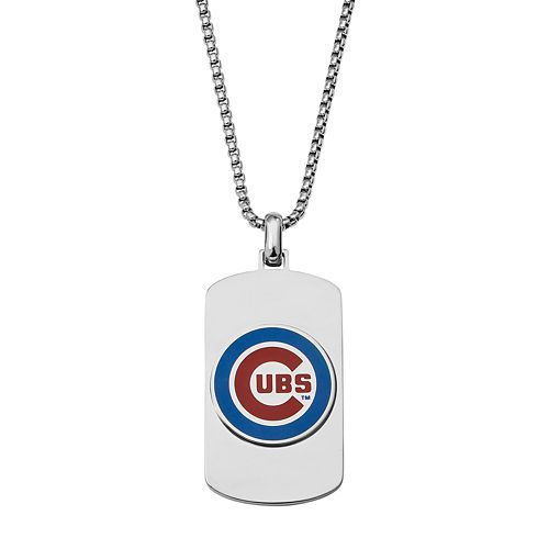 Men's Stainless Steel Chicago Cubs Dog Tag Necklace