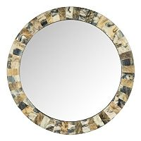 Safavieh Etienne Faux Tigers Eye Wall Mirror
