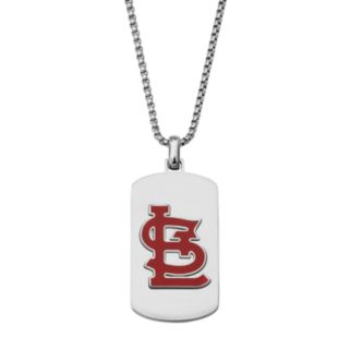 Men's Stainless Steel St. Louis Cardinals Dog Tag Necklace
