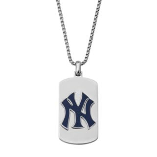Men's Stainless Steel New York Yankees Dog Tag Necklace