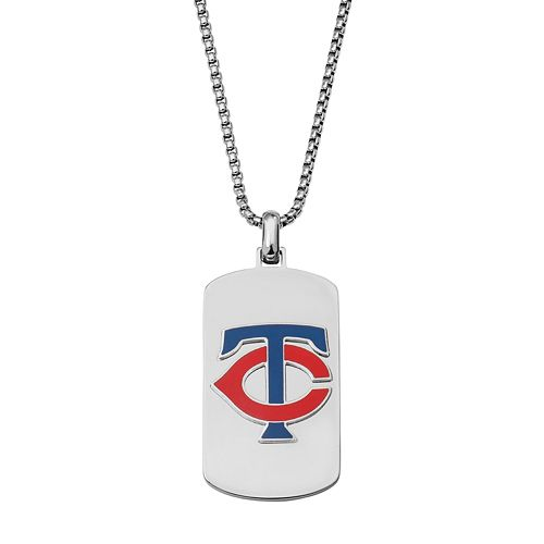 Men's Stainless Steel Minnesota Twins Dog Tag Necklace
