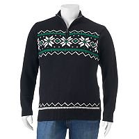 Big & Tall Chaps Fairisle Mockneck Sweater