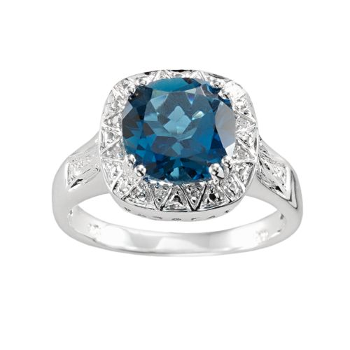 Sterling Silver London Blue To...