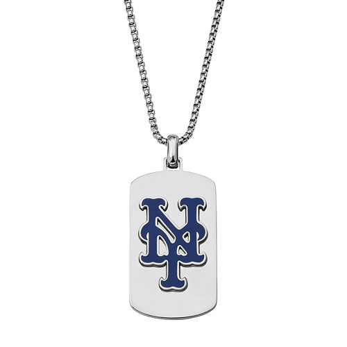 Men's Stainless Steel New York Mets Dog Tag Necklace
