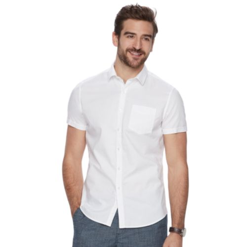 Marc Anthony Slim-Fit Stretch Button-Down Shirt
