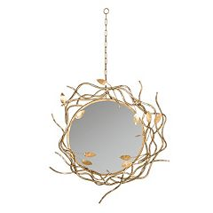Safavieh Gold Finish Wreath Wall Mirror