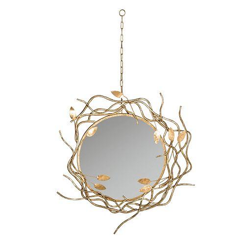 Safavieh Gold Finish Wreath Wall Mirror