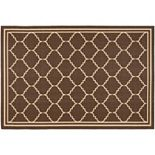 Safavieh Courtyard Jagged Edge Framed Trellis Indoor Outdoor Rug