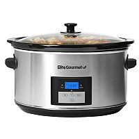 Elite Platinum 8.5-qt. Stainless Steel Digital Slow Cooker