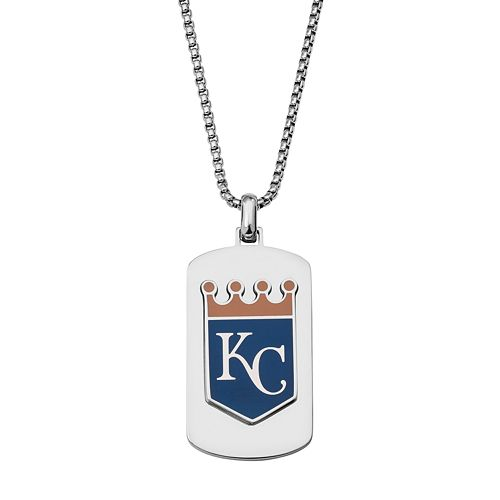 Men's Stainless Steel Kansas City Royals Dog Tag Necklace