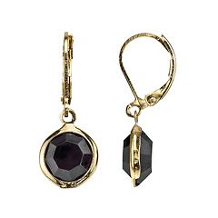 1928 Faceted Circle Nickel Free Drop Earrings