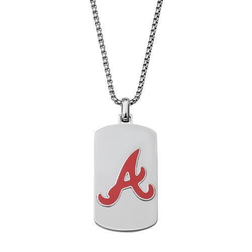 Men's Stainless Steel Atlanta Braves Dog Tag Necklace