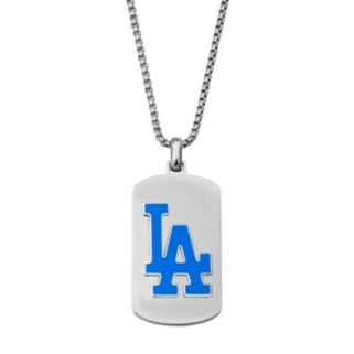 Men's Stainless Steel Los Angeles Dodgers Dog Tag Necklace