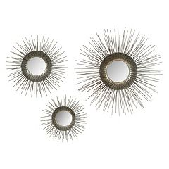 Safavieh Sunburst Triptych Wall Mirror 3-piece Set