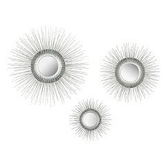 Safavieh Sunburst Triptych Wall Mirror 3-piece Set