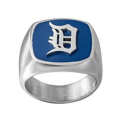 Men's Stainless Steel Detroit Tigers Ring