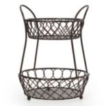 Mikasa Gourmet Basics Loop & Lattice 2-Tier Basket