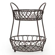 Mikasa Gourmet Basics Loop & Lattice 2 tier Basket