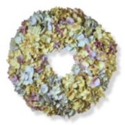 """National Tree Company 18"""" Artificial Mixed Hydrangea Wreath"""