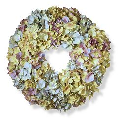 National Tree Company 18' Artificial Mixed Hydrangea Wreath