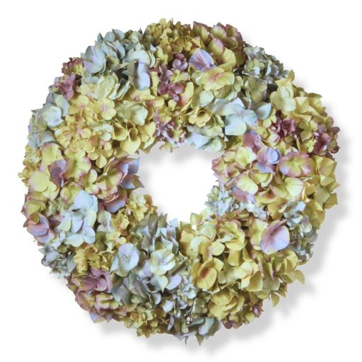 "National Tree Company 18"" Artificial Mixed Hydrangea Wreath"