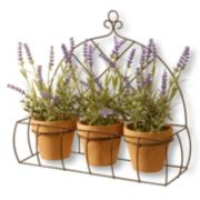 "National Tree Company 17"" Artificial Potted Lavender Plant 3-piece Set"