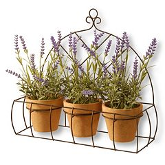 National Tree Company 17' Artificial Potted Lavender Plant 3-piece Set