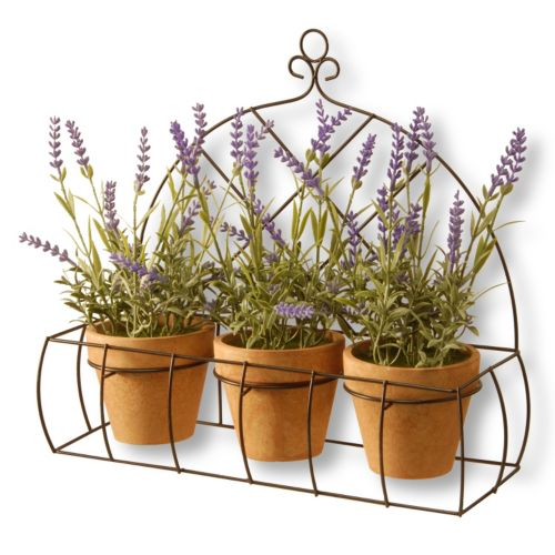 """National Tree Company 17"""" Artificial Potted Lavender Plant 3-piece Set"""