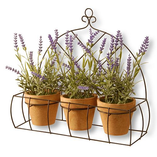 National Tree Company 17 Artificial Potted Lavender Plant 3-piece Set