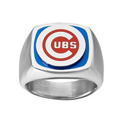 Men's Stainless Steel Chicago Cubs Ring