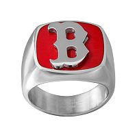 Men's Stainless Steel Boston Red Sox Ring