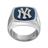Men's Stainless Steel New York Yankees Ring