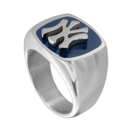 Men's Stainless Steel New York Yankees Ring