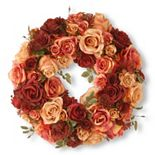 "National Tree Company 15"" Artificial Mixed Rose Wreath"
