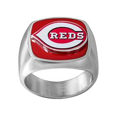 Men's Stainless Steel Cincinnati Reds Ring