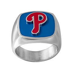 Men's Stainless Steel Philadelphia Phillies Ring