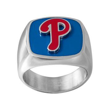 Men's Stainless Steel Philadelphia Phillies Ring
